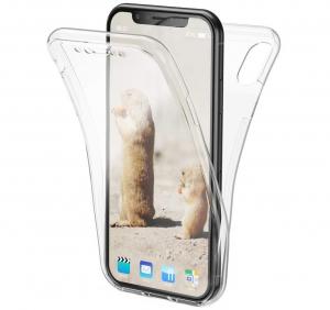 Husa Full TPU 360 fata + spate iPhone XR, Transparent0