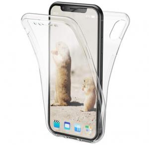 Husa Full TPU 360 fata + spate iPhone XS Max, Transparent0