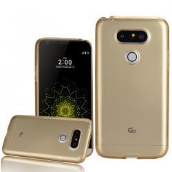 Husa Full TPU 360 (fata + spate) LG G5, Gold Transparent1