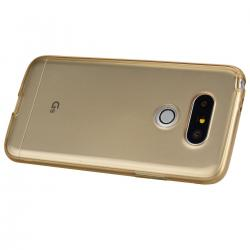 Husa Full TPU 360 (fata + spate) LG G5, Gold Transparent2