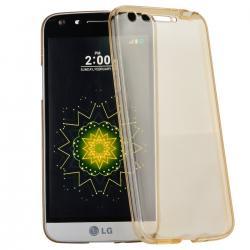 Husa Full TPU 360 (fata + spate) LG G5, Gold Transparent0