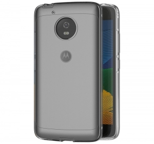 Husa Full TPU 360 fata + spate Motorola Moto G5, Gri Transparent2