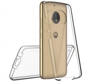 Husa Full TPU 360 fata + spate Motorola Moto G5 Plus, Gri Transparent1