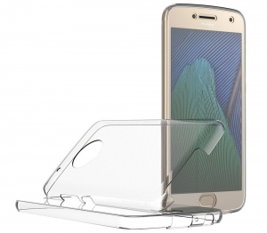 Husa Full TPU 360 fata + spate Motorola Moto G5 Plus, Transparent1