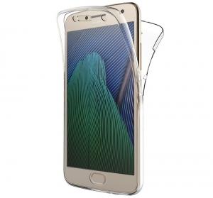 Husa Full TPU 360 fata + spate Motorola Moto G5 Plus, Transparent0