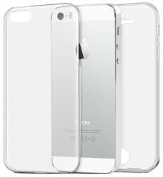 Husa Full TPU 360 (fata + spate) pentru Apple iPhone 5 / 5S / SE, Transparent0