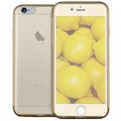 Husa Full TPU 360 (fata + spate) pentru Apple iPhone 6 / 6S, Gold Transparent [1]