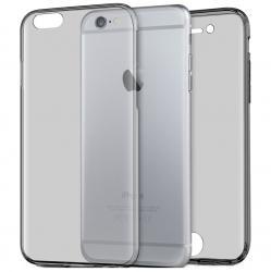 Husa Full TPU 360 (fata + spate) pentru Apple iPhone 6 / 6S, Gri Transparent0