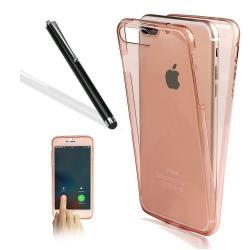 Husa Full TPU 360 (fata + spate) pentru Apple iPhone 7 Plus, Rose Gold Transparent1