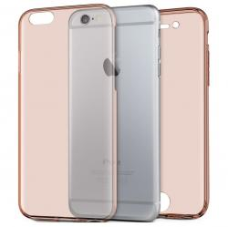 Husa Full TPU 360 (fata + spate) pentru Apple iPhone 7, Rose Gold Transparent0