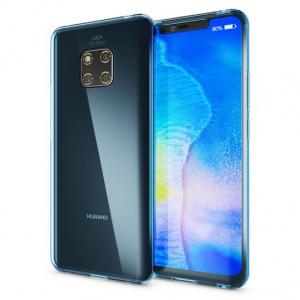 Husa Full TPU 360 fata + spate pentru Huawei Mate 20 Pro, Albastru Transparent [1]