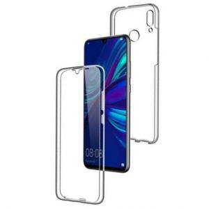 Husa Full TPU 360 fata + spate pentru Huawei P Smart (2019), Transparent0