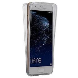 Husa Full TPU 360 (fata + spate) pentru Huawei P10, Gri Transparent0