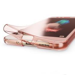 Husa Full TPU 360 (fata + spate) pentru Huawei P10 Lite, Rose Gold Transparent1