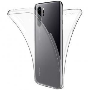 Husa Full TPU 360 fata + spate pentru Huawei P30 Pro, Transparent0