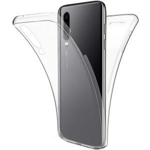 Husa Full TPU 360 fata + spate pentru Huawei P30, Transparent0