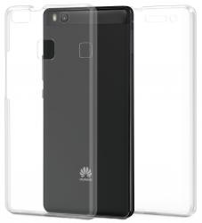 Husa Full TPU 360 (fata + spate) pentru Huawei P9 Lite, Transparent