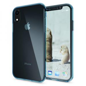 Husa Full TPU 360 fata + spate pentru iPhone XR, Albastru transparent2