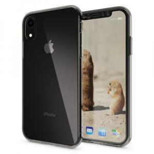Husa Full TPU 360 fata + spate pentru iPhone XR, Gri transparent2