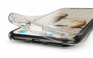 Husa Full TPU 360 fata + spate pentru iPhone XR, Gri transparent1