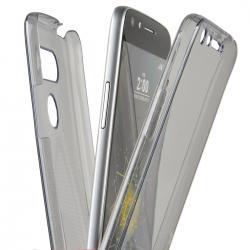 Husa Full TPU 360 (fata + spate) pentru LG G5, Gri Transparent2