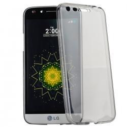 Husa Full TPU 360 (fata + spate) pentru LG G5, Gri Transparent0