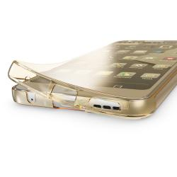 Husa Full TPU 360 (fata + spate) pentru LG G6, Gold Transparent1
