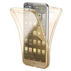 Husa Full TPU 360 (fata + spate) pentru LG G6, Gold Transparent0