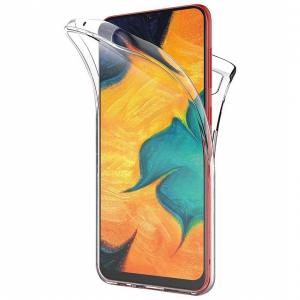 Husa Full TPU 360 fata + spate pentru Samsung Galaxy A30, Transparent0