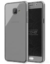 Husa Full TPU 360 (fata + spate) pentru Samsung Galaxy A5 (2016), Gri transparent0