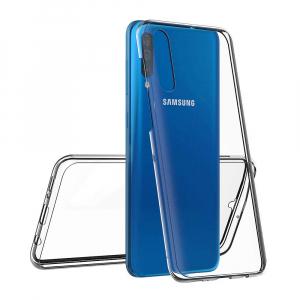 Husa Full TPU 360 fata + spate pentru Samsung Galaxy A50, Transparent1