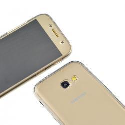 Husa Full TPU 360 (fata + spate) pentru Samsung Galaxy A7 (2017), Gri transparent1