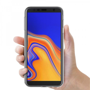 Husa Full TPU 360 fata + spate pentru Samsung Galaxy J4 Plus (2018), Transparent2