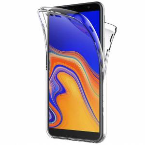 Husa Full TPU 360 fata + spate pentru Samsung Galaxy J4 Plus (2018), Transparent0
