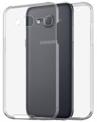 Husa Full TPU 360 (fata + spate) pentru Samsung Galaxy J5, Gri Transparent0