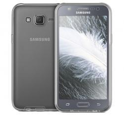 Husa Full TPU 360 (fata + spate) pentru Samsung Galaxy J5, Gri Transparent2