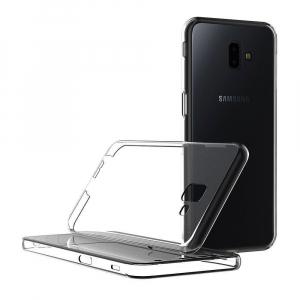 Husa Full TPU 360 fata + spate pentru Samsung Galaxy J6 Plus (2018), Gri Transparent1