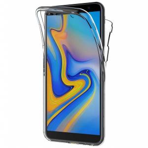 Husa Full TPU 360 fata + spate pentru Samsung Galaxy J6 Plus (2018), Transparent0