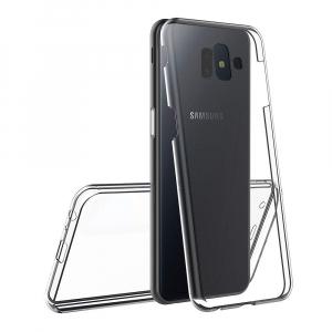 Husa Full TPU 360 fata + spate pentru Samsung Galaxy J6 Plus (2018), Transparent1