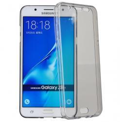 Husa Full TPU 360 (fata + spate) pentru Samsung Galaxy J7 (2016), Gri Transparent0