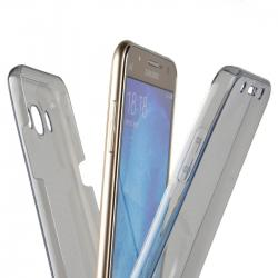 Husa Full TPU 360 (fata + spate) pentru Samsung Galaxy J7 (2016), Gri Transparent1