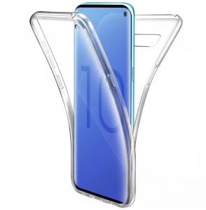 Husa Full TPU 360 fata + spate pentru Samsung Galaxy S10, Transparent0