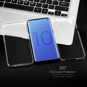 Husa Full TPU 360 fata + spate pentru Samsung Galaxy S10, Transparent2