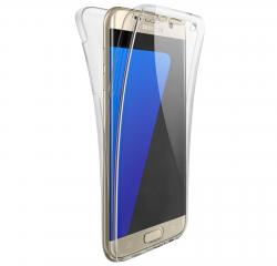 Husa Full TPU 360 (fata + spate) pentru Samsung Galaxy S6 Edge, Transparent1