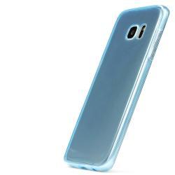 Husa Full TPU 360 (fata + spate) pentru Samsung Galaxy S7 Edge, Albastru transparent2