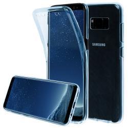 Husa Full TPU 360 (fata + spate) pentru Samsung Galaxy S8, Albastru transparent1