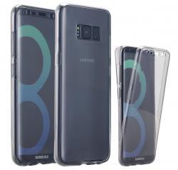 Husa Full TPU 360 (fata + spate) pentru Samsung Galaxy S8, Gri Transparent2