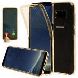 Husa Full TPU 360 (fata + spate) pentru Samsung Galaxy S8 Plus, Gold Transparent1