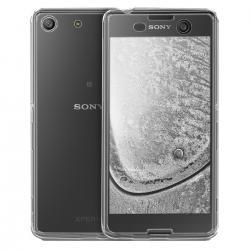 Husa Full TPU 360 (fata + spate) pentru Sony Xperia M5, Gri transparent0