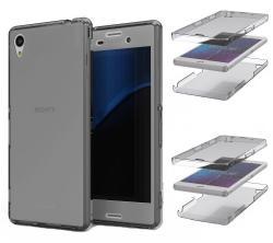 Husa Full TPU 360 (fata + spate) pentru Sony Xperia Z3, Gri transparent1